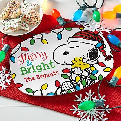 PEANUTS® Merry & Bright Holiday Platter