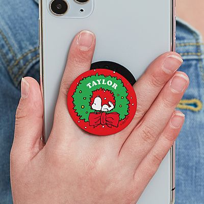 PEANUTS® Snoopy™ Holiday Wreath PopSockets PopGrip®