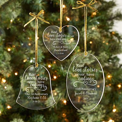 Real Love Stories Acrylic Bell Ornament