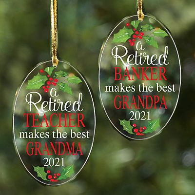 Retired Acrylic Oval Ornament