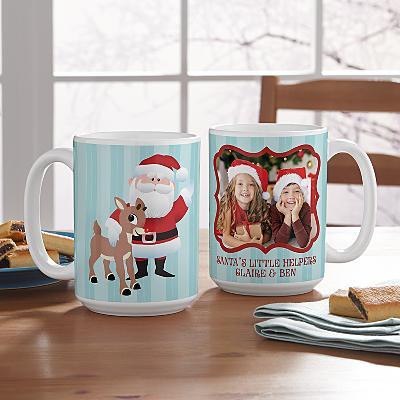 Rudolph® & Santa Photo Mug
