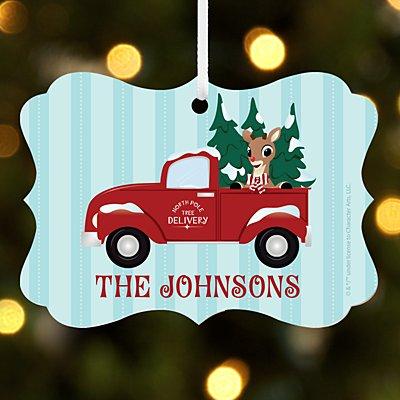 Rudolph® North Pole Delivery Scroll Ornament