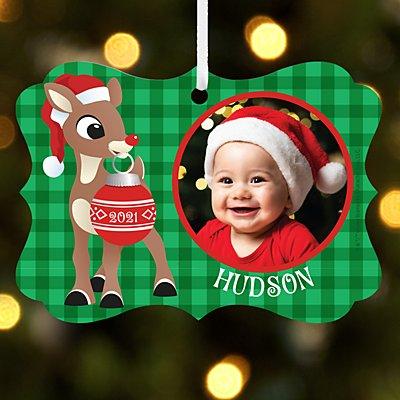 Rudolph® Photo Scroll Ornament