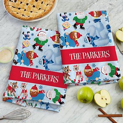 Rudolph® Skating Friends Kitchen Towel