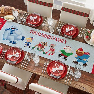 Rudolph® Skating Friends Table Runner