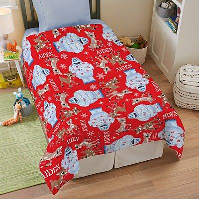 Rudolph® Tangled in Lights Comforter