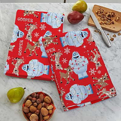 Rudolph® Tangled in Lights Kitchen Towel