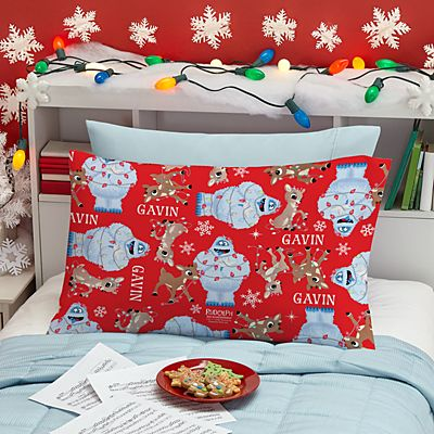 Rudolph® Tangled in Lights Pillowcase
