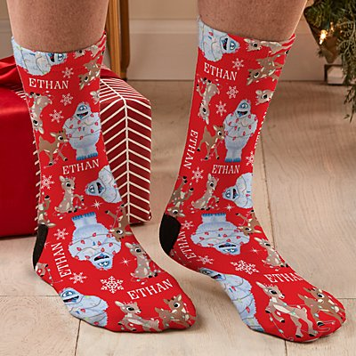 Rudolph® Tangled in Lights Socks