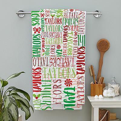 Signature Style Christmas Bath Towel