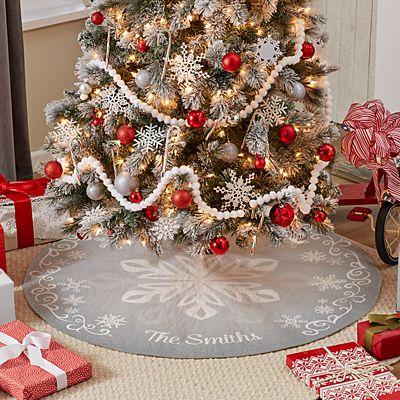 Snowflake Frost Tree Skirt