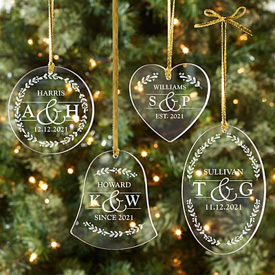 Sophisticated Couple Acrylic Ornament