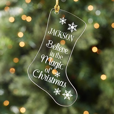 The Magic of Christmas Acrylic Stocking Ornament