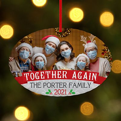 Together Again Photo Oval Ornament