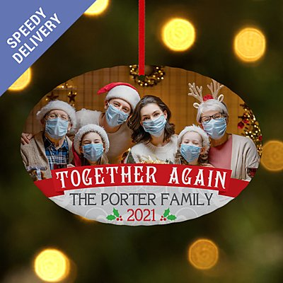 Together Again Photo Oval Bauble