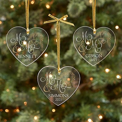 Together as One Acrylic Heart Ornament