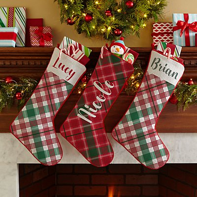 Wrapped in Plaid Stocking