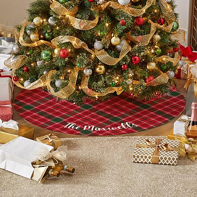 Wrapped in Plaid Tree Skirt