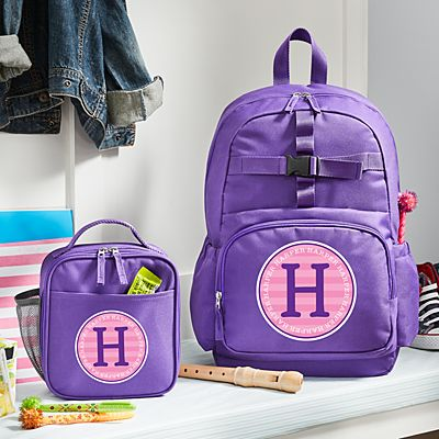 Allover Name Purple Backpack Collection
