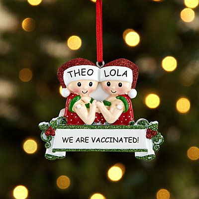 We are Vaccinated Couple Ornament