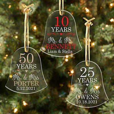 Anniversary Acrylic Bell Ornament