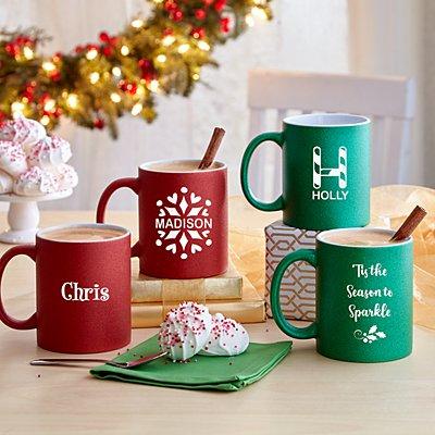 Celebrate the Season Glitter Mugs