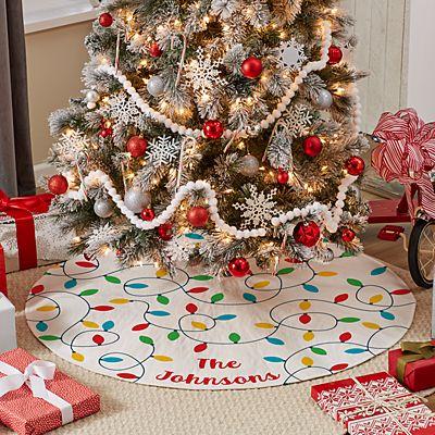 Christmas Lights Tree Skirt