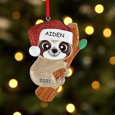 Christmas Sloth Ornament
