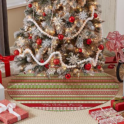 Festive Argyle Tree Skirt