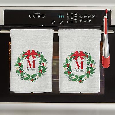 Festive Wreath Kitchen Towel