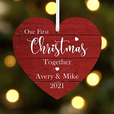 First Christmas Milestone Heart Ornament