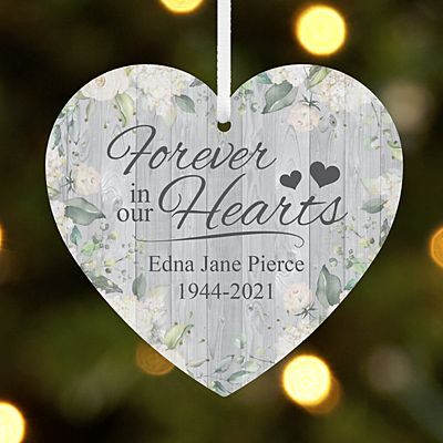 Forever in Our Hearts Memorial Heart Ornament
