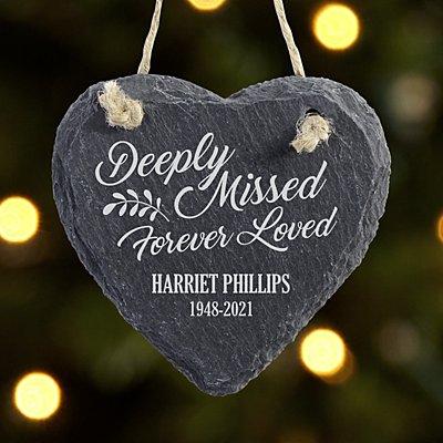 Forever Loved Slate Heart Ornament