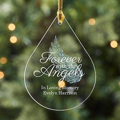 Forever with the Angels Acrylic Teardrop Ornament