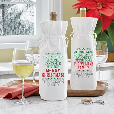 From Our House to Your House Wine Bag