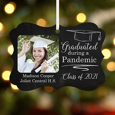 Graduated During a Pandemic Photo Scroll Ornament