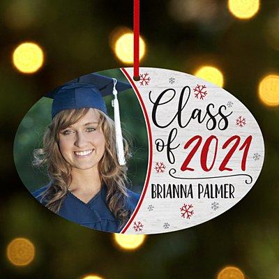 Graduation Photo Oval Ornament