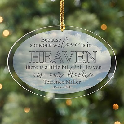 Heaven in Our Home Acrylic Oval Ornament