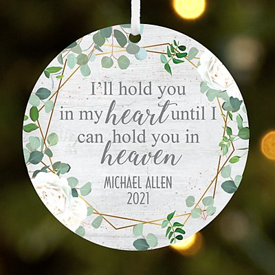 Hold You in My Heart Round Ornament