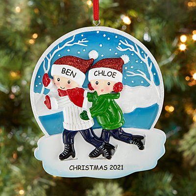 Ice Skating Couple Ornament