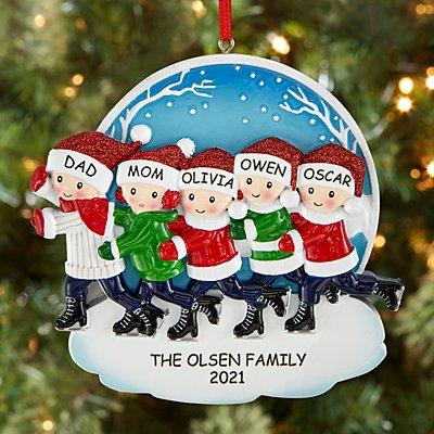 Ice Skating Family Ornament