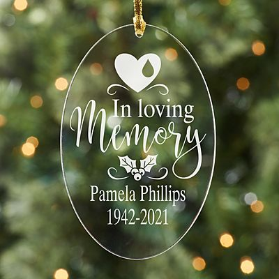 In Loving Memory Acrylic Oval Ornament