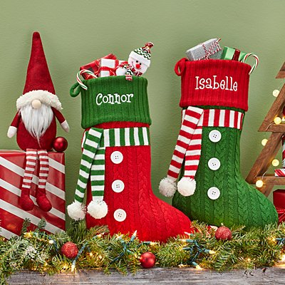 Jolly Knit Scarf Stocking