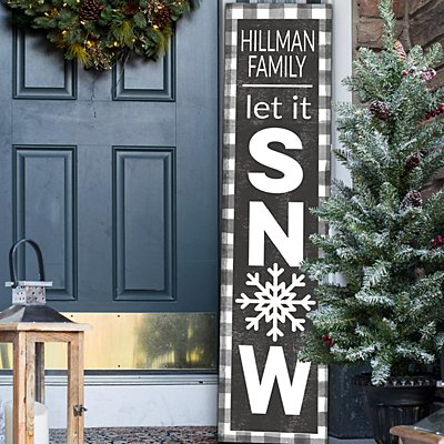 Let It Snow Porch Leaner Sign
