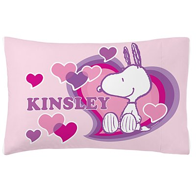 PEANUTS® Happy Heart Snoopy™ Plush Pillowcase