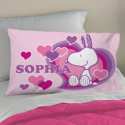 PEANUTS® Happy Heart Snoopy™ Pillowcase