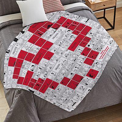 PEANUTS® Heart Comic Strip Plush Blanket