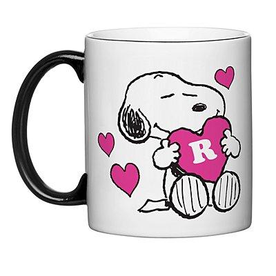 PEANUTS® Snoopy™ Initial Heart Mug - Pink