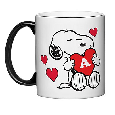 PEANUTS® Snoopy™ Initial Heart Mug - Red