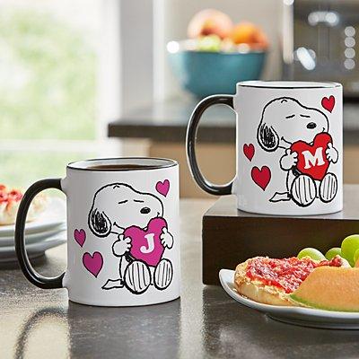 PEANUTS® Snoopy™ Initial Heart Mug
